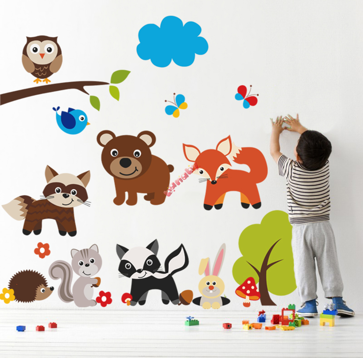 sticker de perete teddy bear and animals