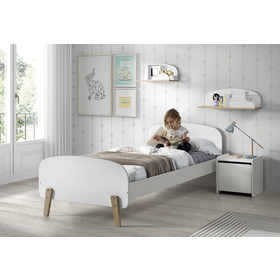 Noptieră KIDDY – albă, VIPACK FURNITURE
