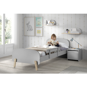 Noptieră KIDDY – gri, VIPACK FURNITURE