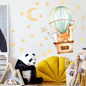 Autocolant de perete - Animale într-un balon, Housedecor