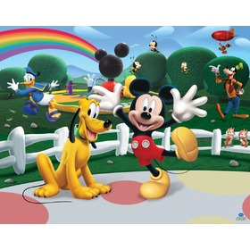 Decorul Mural 3D Clubul lui Mickey Mouse, Walltastic, Mickey Mouse