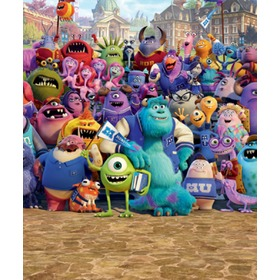 copii 8 bucată aceasta fotografie - monștri universitate, Walltastic, Monsters University