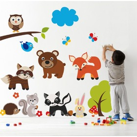 Sticker de perete - Teddy Bear and Animals