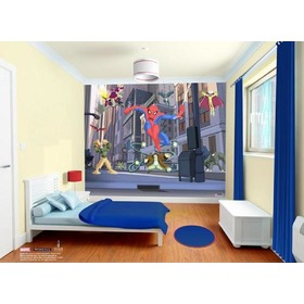 "Tapetul 3D ""SPIDERMAN SPECTACULAR"", Walltastic"