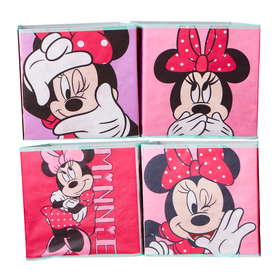 Patru cutii de depozitare - Minnie Mouse, Moose Toys Ltd , Minnie Mouse